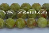 CRO1152 15.5 inches 8mm round matte green dragon serpentine jasper beads