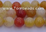 CRO1162 15.5 inches 8mm round golden silk jade beads wholesale