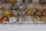 CRO1196 15.5 inches 6mm faceted round mixed lodalite quartz beads