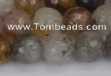 CRO1199 15.5 inches 12mm faceted round mixed lodalite quartz beads