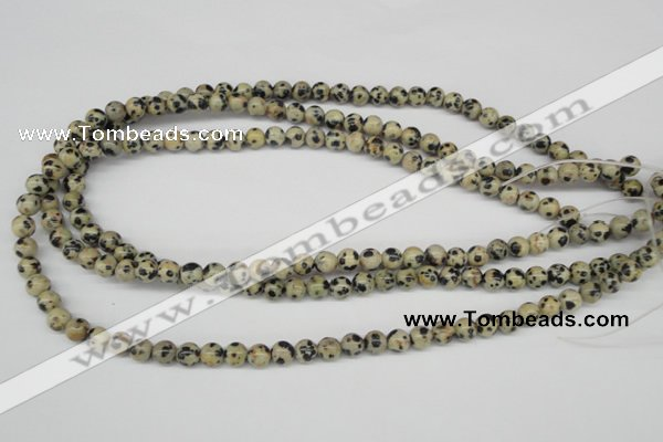 CRO12 15.5 inches 6mm round dalmatian jasper beads wholesale