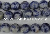 CRO125 15.5 inches 10mm round blue spot gemstone beads wholesale