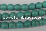 CRO133 15.5 inches 8mm round synthetic turquoise beads wholesale