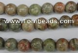 CRO138 15.5 inches 8mm round Chinese unakite beads wholesale