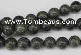 CRO140 15.5 inches 8mm round green lace gemstone beads wholesale