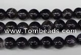 CRO149 15.5 inches 8mm round natural amethyst beads wholesale