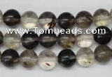CRO160 15.5 inches 8mm round watermelon black beads wholesale