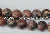 CRO180 15.5 inches 10mm round red leopard skin jasper beads wholesale