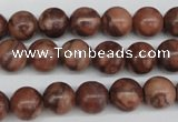 CRO185 15.5 inches 10mm round red picasso jasper beads wholesale