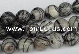 CRO188 15.5 inches 10mm round black water jasper beads wholesale