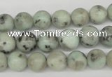 CRO189 15.5 inches 10mm round sesame jasper beads wholesale