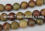 CRO192 15.5 inches 10mm round rainbow jasper beads wholesale
