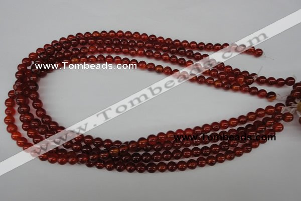 CRO20 15.5 inches 6mm round red agate gemstone beads wholesale