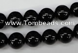 CRO203 15.5 inches 10mm round black agate beads wholesale