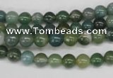 CRO22 15.5 inches 6mm round moss agate gemstone beads wholesale