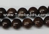 CRO230 15.5 inches 10mm round bronzite gemstone beads wholesale