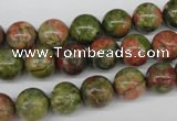 CRO242 15.5 inches 10mm round unakite gemstone beads wholesale