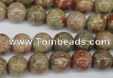 CRO243 15.5 inches 10mm round Chinese unakite beads wholesale