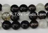 CRO256 15.5 inches 10mm round watermelon black beads wholesale