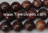 CRO296 15.5 inches 12mm round red picture jasper beads wholesale