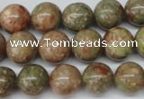 CRO307 15.5 inches 12mm round Chinese unakite beads wholesale