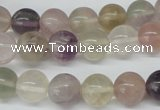 CRO309 15.5 inches 12mm round rainbow fluorite beads wholesale