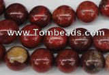 CRO323 15.5 inches 12mm round brecciated jasper beads wholesale