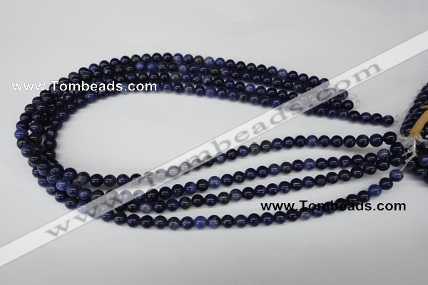 CRO34 15.5 inches 6mm round sodalite gemstone beads wholesale