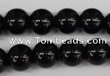 CRO353 15.5 inches 12mm round blackstone beads wholesale