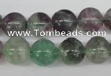 CRO354 15.5 inches 12mm round fluorite gemstone beads wholesale