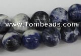CRO358 15.5 inches 12mm round sodalite gemstone beads wholesale