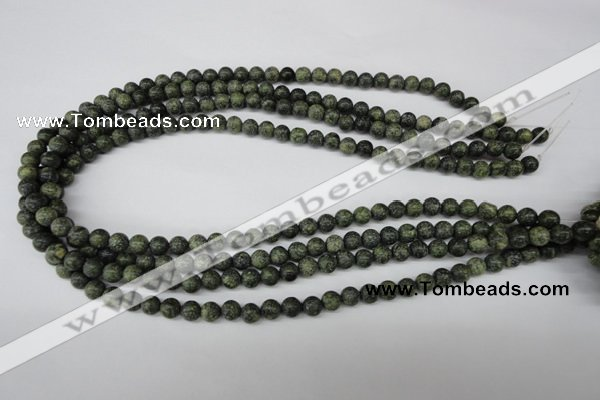 CRO36 15.5 inches 6mm round green lace gemstone beads wholesale