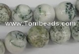CRO390 15.5 inches 14mm round tree agate beads wholesale