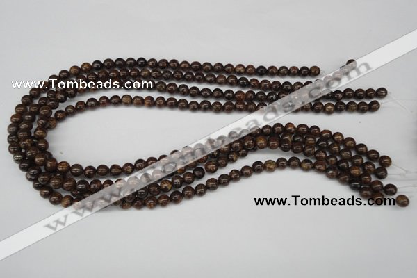 CRO40 15.5 inches 6mm round bronzite gemstone beads wholesale