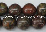 CRO402 15.5 inches 14mm round rainrow jasper beads wholesale