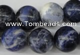 CRO405 15.5 inches 14mm round sodalite gemstone beads wholesale