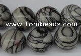 CRO408 15.5 inches 14mm round black water jasper beads wholesale