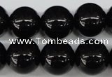 CRO420 15.5 inches 16mm round blackstone beads wholesale