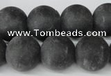 CRO421 15.5 inches 16mm round blackstone beads wholesale