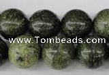 CRO428 15.5 inches 16mm round green lace gemstone beads wholesale
