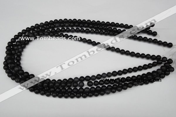 CRO43 15.5 inches 6mm round black stone beads wholesale
