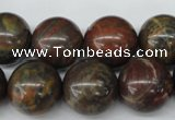 CRO445 15.5 inches 16mm round rainrow jasper beads wholesale