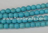 CRO47 15.5 inches 6mm round synthetic turquoise beads wholesale