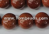 CRO486 15.5 inches 18mm round goldstone beads wholesale