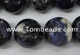CRO488 15.5 inches 18mm round sodalite gemstone beads wholesale