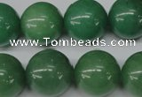 CRO495 15.5 inches 18mm round green aventurine beads wholesale