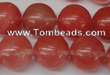 CRO499 15.5 inches 18mm round cherry quartz beads wholesale