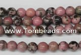 CRO51 15.5 inches 6mm round rhodonite gemstone beads wholesale