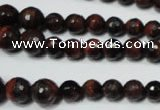 CRO708 15.5 inches 6mm – 14mm faceted round red tiger eye beads