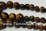 CRO710 15.5 inches 6mm – 14mm faceted round yellow tiger eye beads